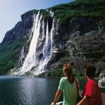 Geirangerfjord Water Fall in Norway